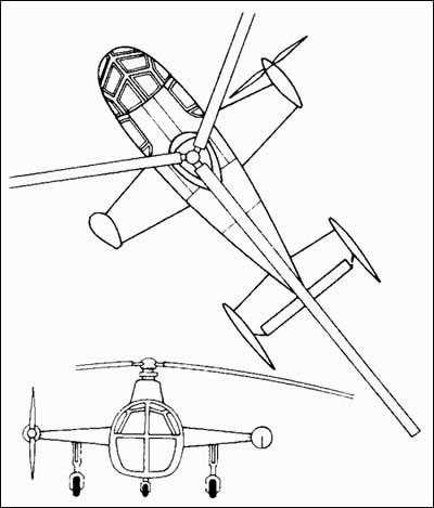 Вертолет Fairey Jet Gyrodyne
