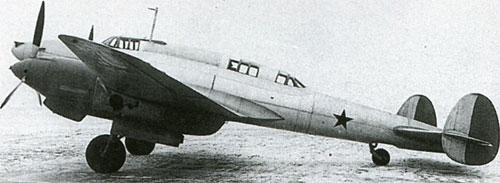прототип бомбардировщика Пе-2