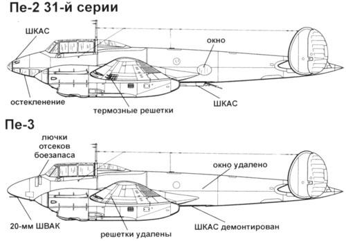 дальний истребитель Пе-3