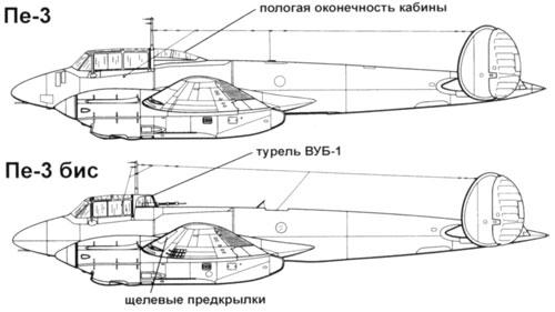 бомбардировщик Пе-3бис