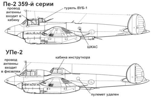 учебно-тренировочный самолет Пе-2УТ