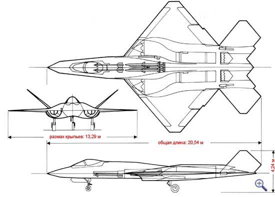 истребитель YF-23 Черная вдова