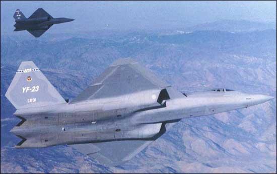 """истребитель YF-23 """"Черная вдова"""""""